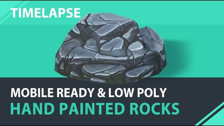Modeling and Handpainting a Stylized Rock in Blender