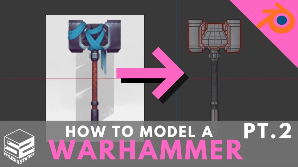 Blender 2.8 Game Asset Modeling Tutorial Series- Stylized Warhammer [PART 2]