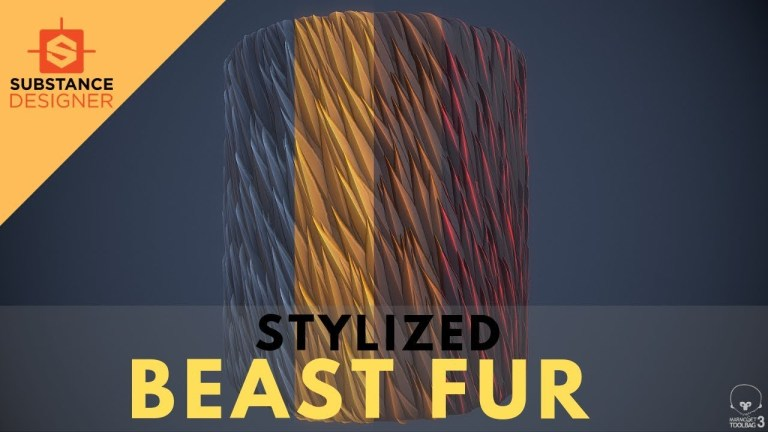 Stylized Fur for Beginners Tutorial- Substance Designer 2019 [FULL COMMENTARY]