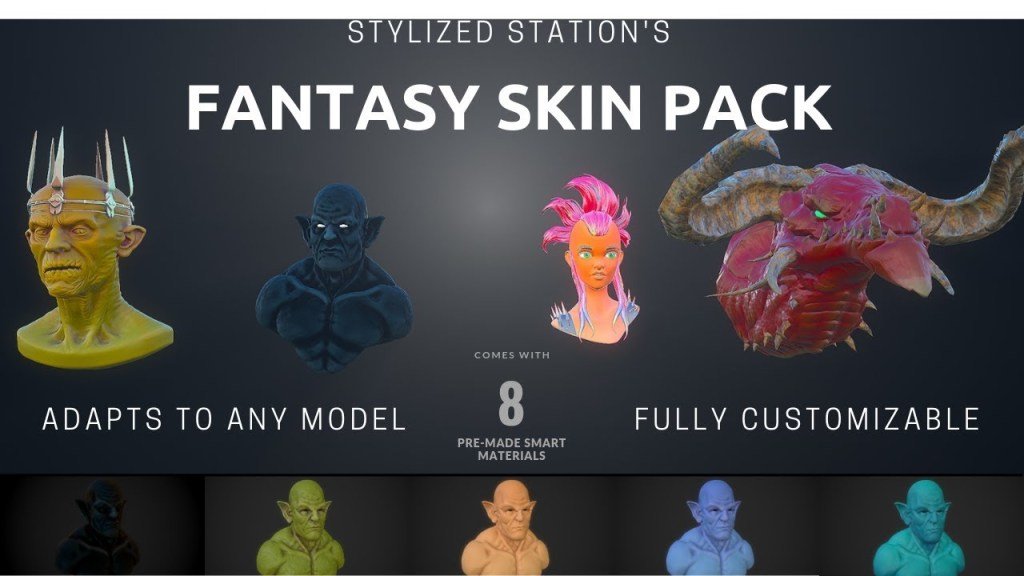 Stylized Station's Ultimate Fantasy Skin Bundle – Substance Painter Smart Material Pack