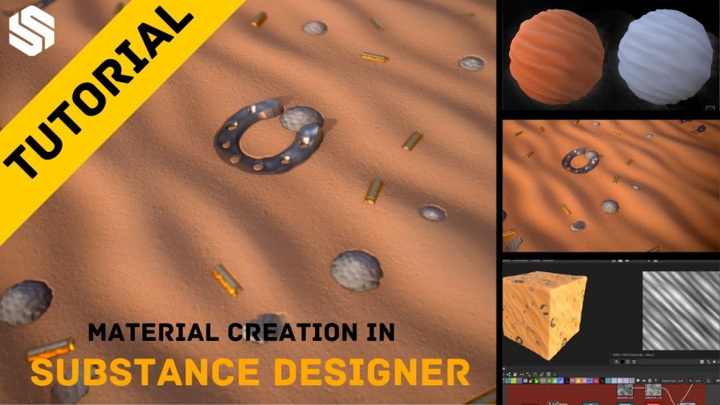 Easily Create Stylized Sand Material in Substance Designer