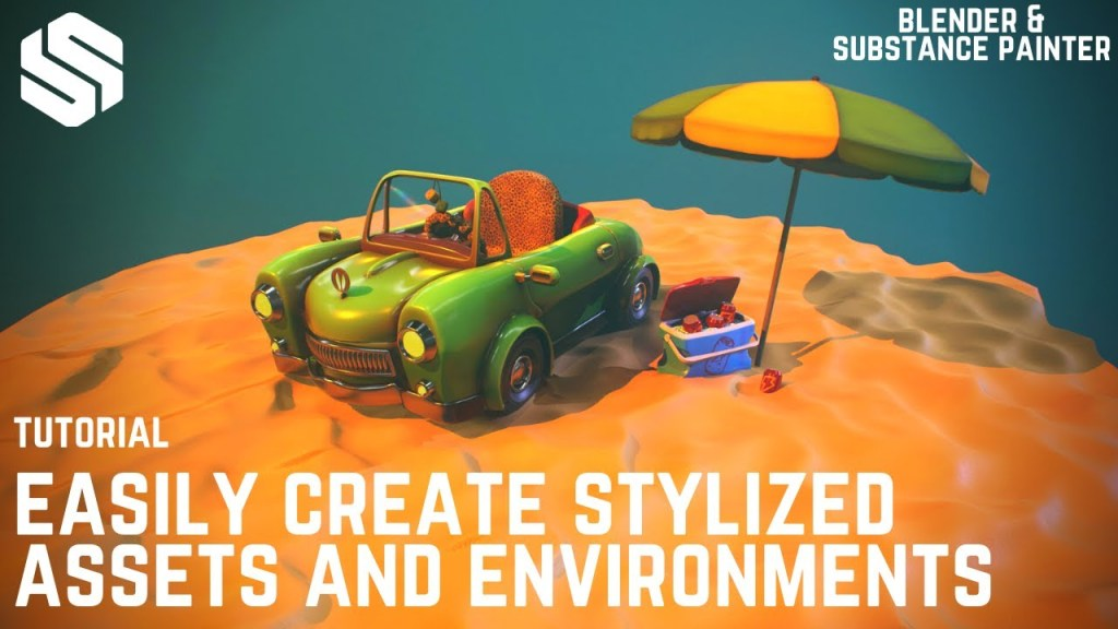 Stylized Environment Creating in Blender & Substance Painter