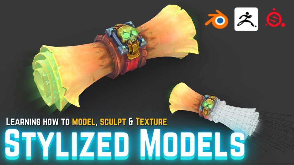Making Simple Stylized 3D Models with Blender, ZBrush & Substance Painter
