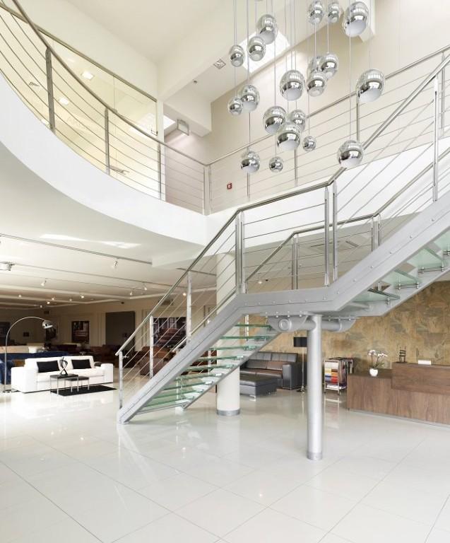 Projekt ekskluzywnych schodów, balustrad.
