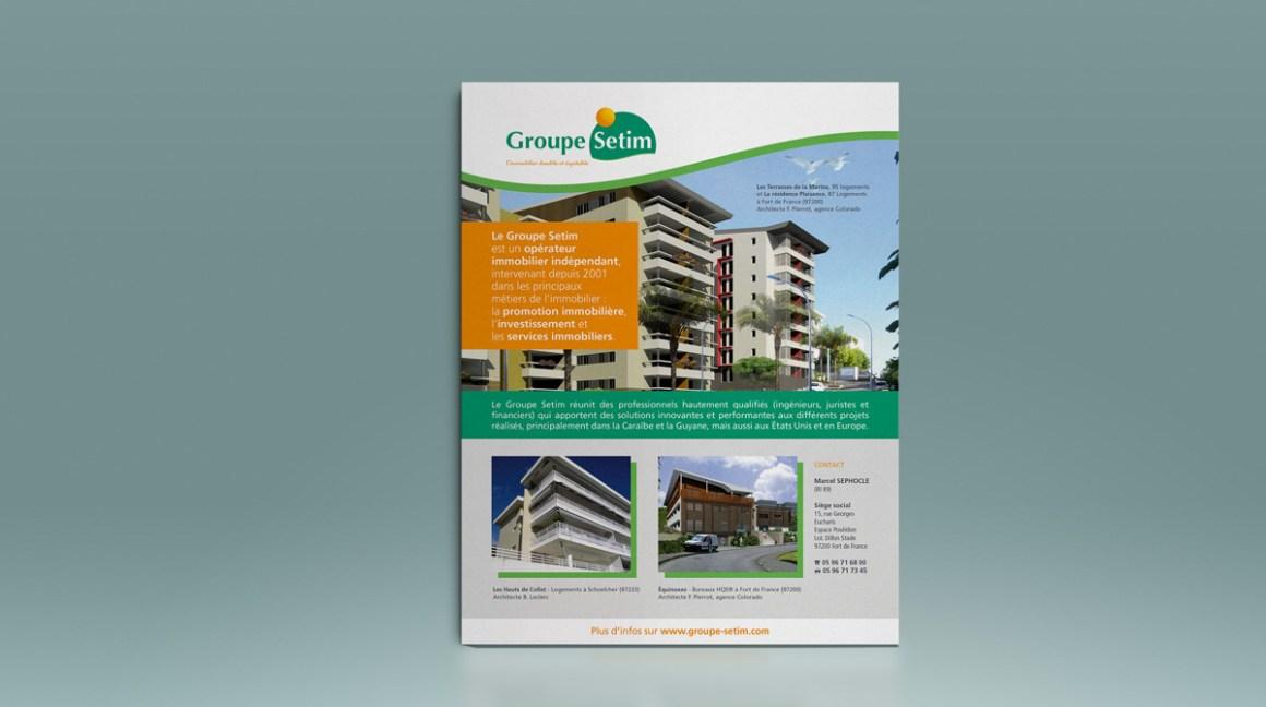 Encart publicitaire Groupe Setim
