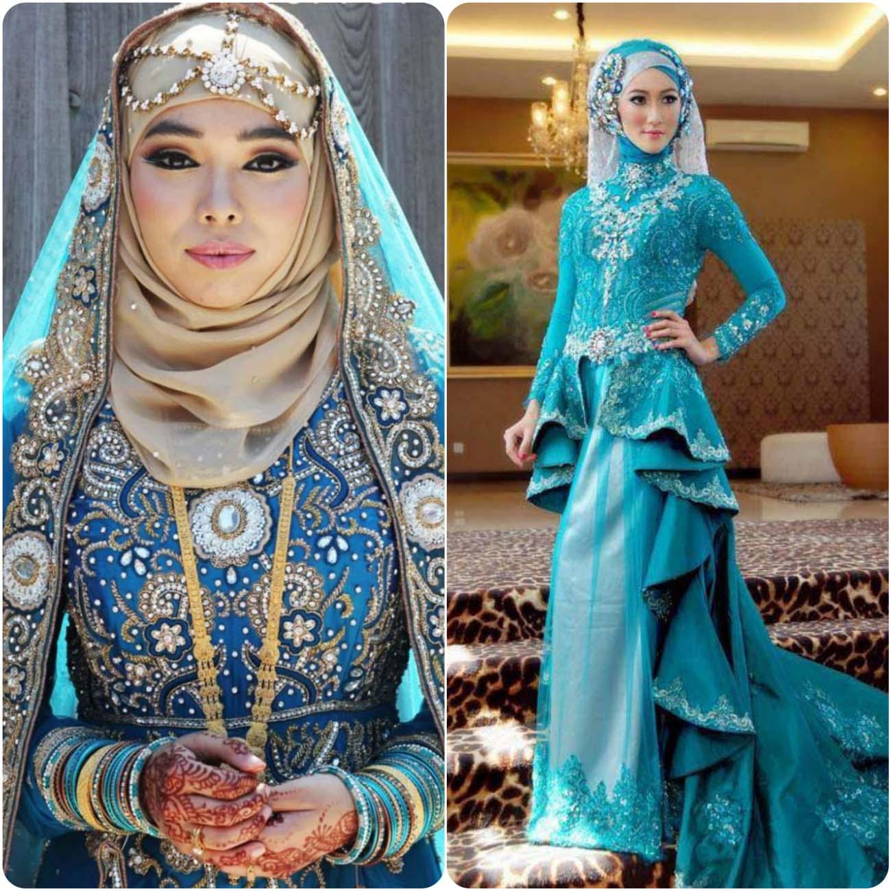 Bridal Hijab Fancy Dresses Designs 2016 2017 Stylo Planet