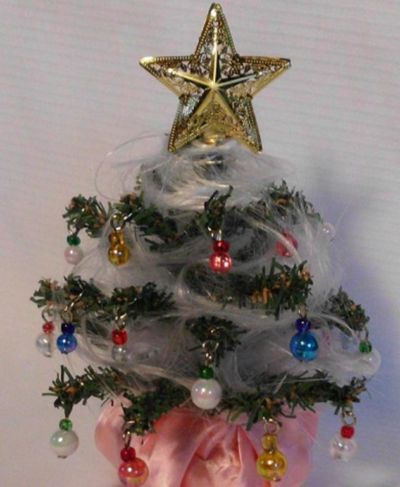 christmas tree decorated with angel