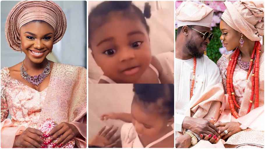 Becca-shows-off-her-daughter's-face-for-the-first-time-VIDEO