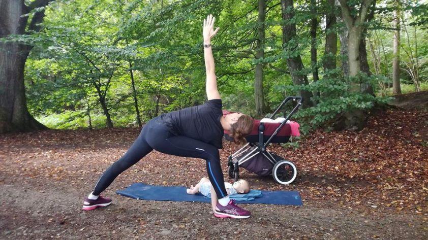 Udendørs træning med barnevogn