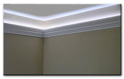 foam crown molding for led and rope