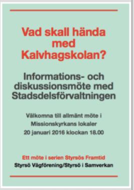 Kalvhagsskolanmöte160120