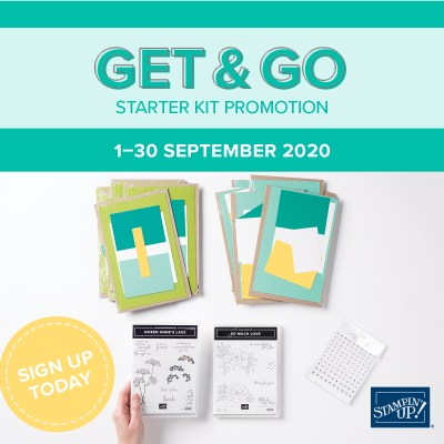 Get & Go Starter Kit .. everything you need to start your Stampin Business