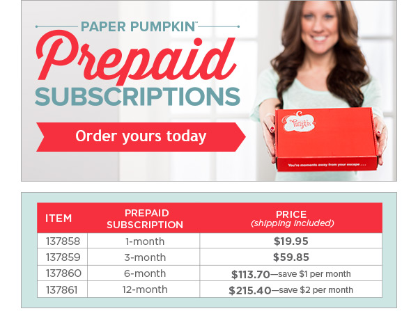 Paper Pumpkin Prepaid Subscription_Order yours today