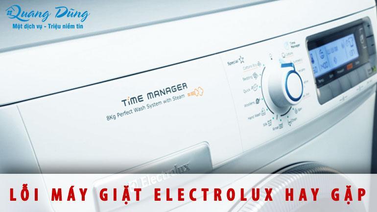 lỗi máy giặt electrolux hay gặp