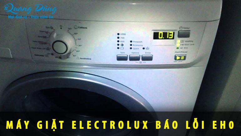 máy giặt báo lỗi EH0