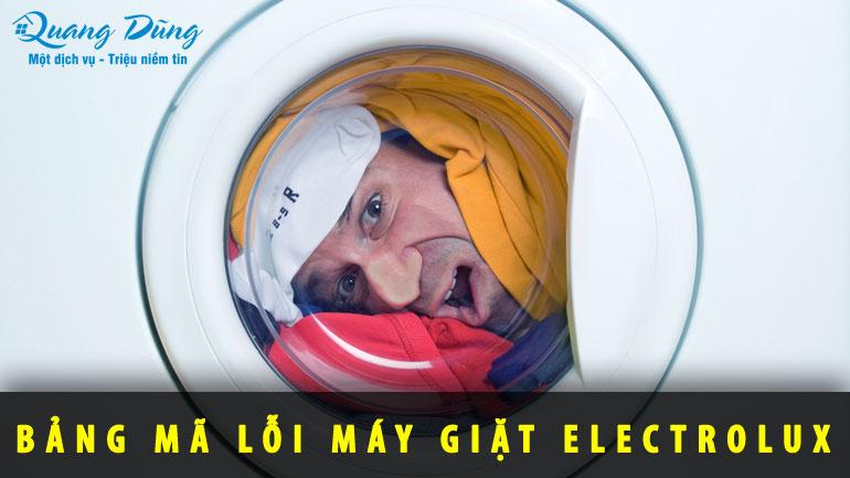 Bảng mã lỗi máy giặt electrolux full