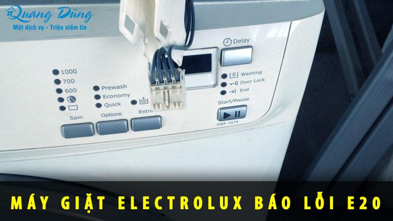 máy giặt báo lỗi E20