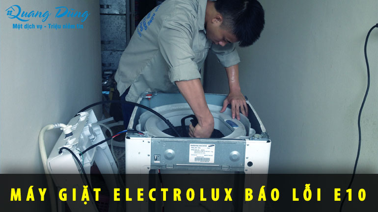 máy giặt electrolux báo lỗi E10