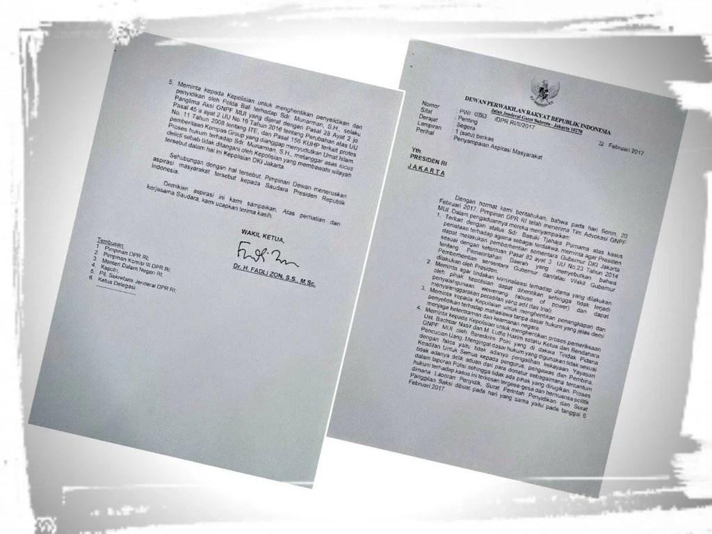 Surat Untuk Presiden RI