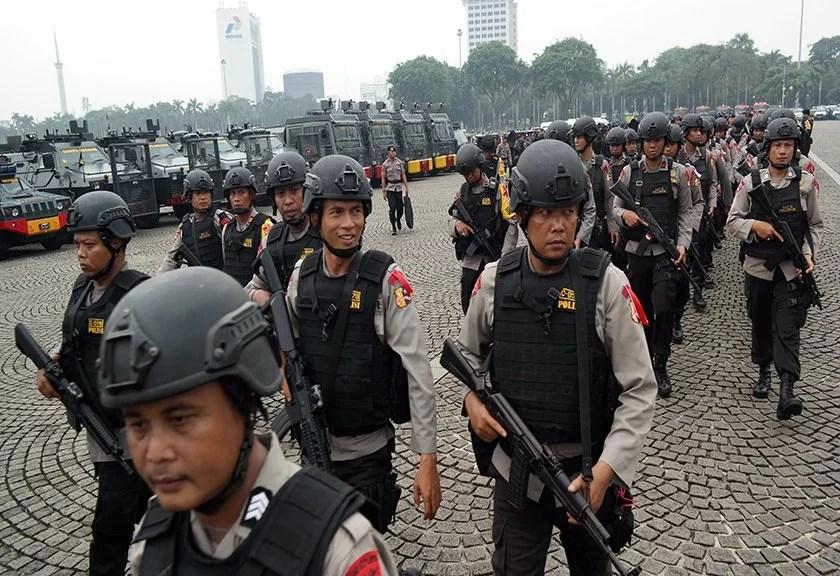 Amankan Aksi 313, Ratusan Brimob dari Daerah Diterbangkan ke Jakarta