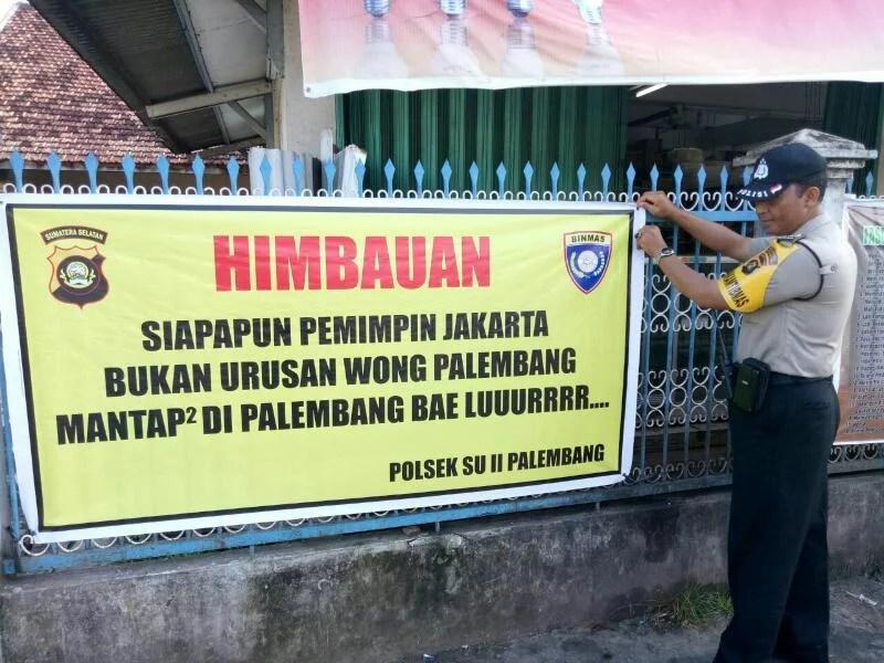 Warga Palembang Dihimbau untuk Tidak Urusi Pilkada DKI Jakarta
