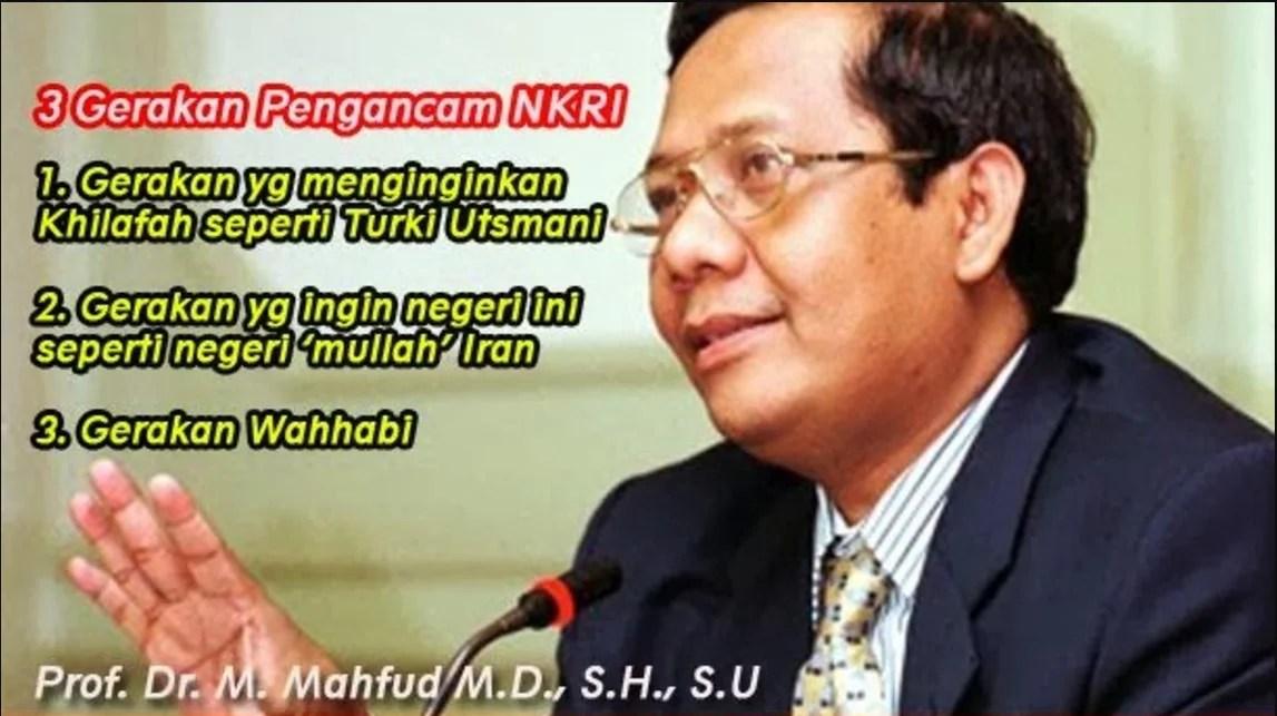 Mahfud MD Menolak Ide Khilafah
