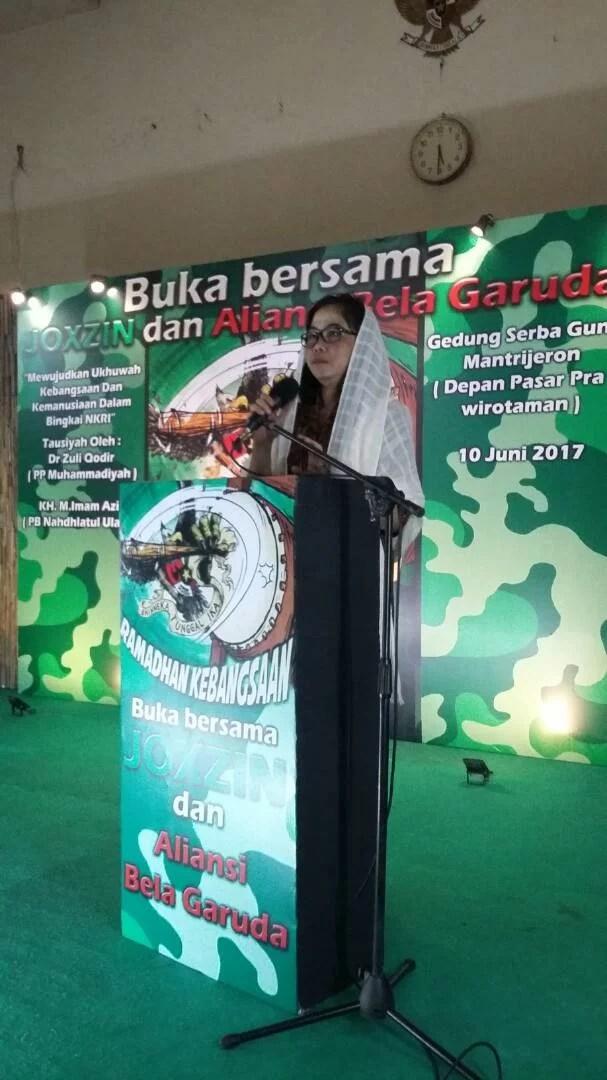 Esti Wijayanti Akan Perjuangkan Aspirasi ABG Jogja dan Brigade Joxzin Terkait Pembubaran HTI