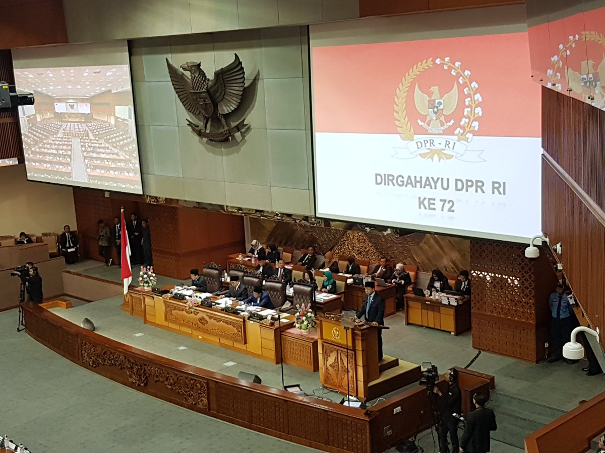 Berikut Capaian Kinerja DPR RI Selama Masa Sidang 2016-2017