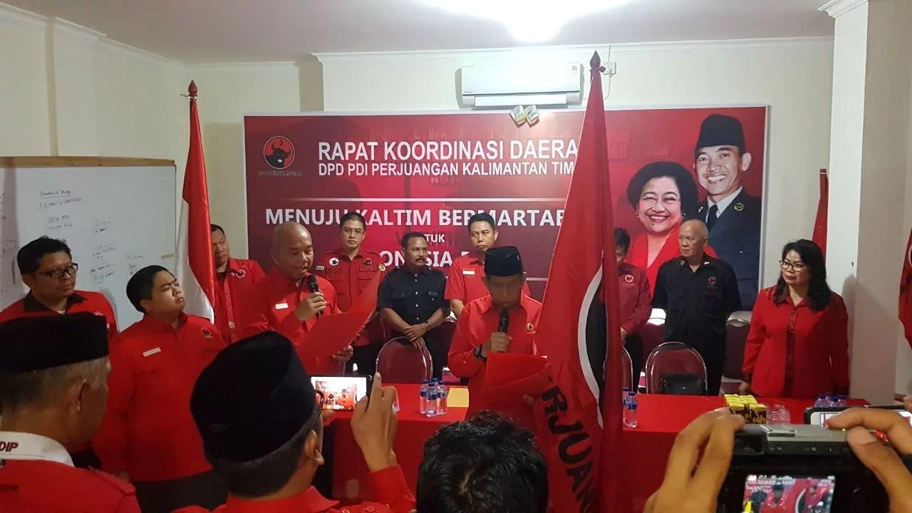 Mantan Kapolda Jabat Plt Ketua DPD PDI Perjuangan Kaltim