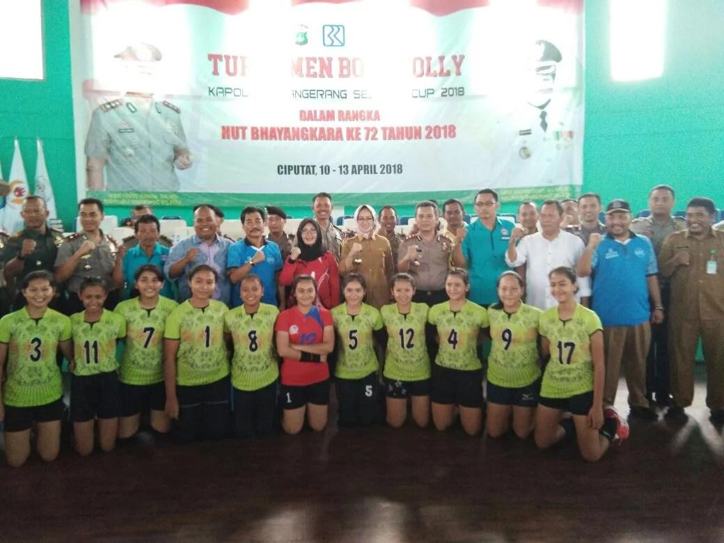 Turnamen Bola Volly Kapolres Cup Resmi Dibuka Walikota Tangsel