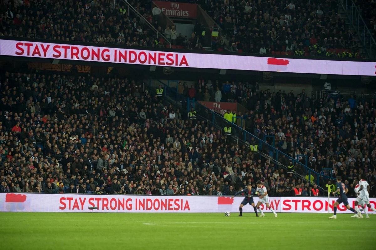 Doa Klub Paris Saint-Germain untuk Musibah Gempa dan Tsunami di Indonesia