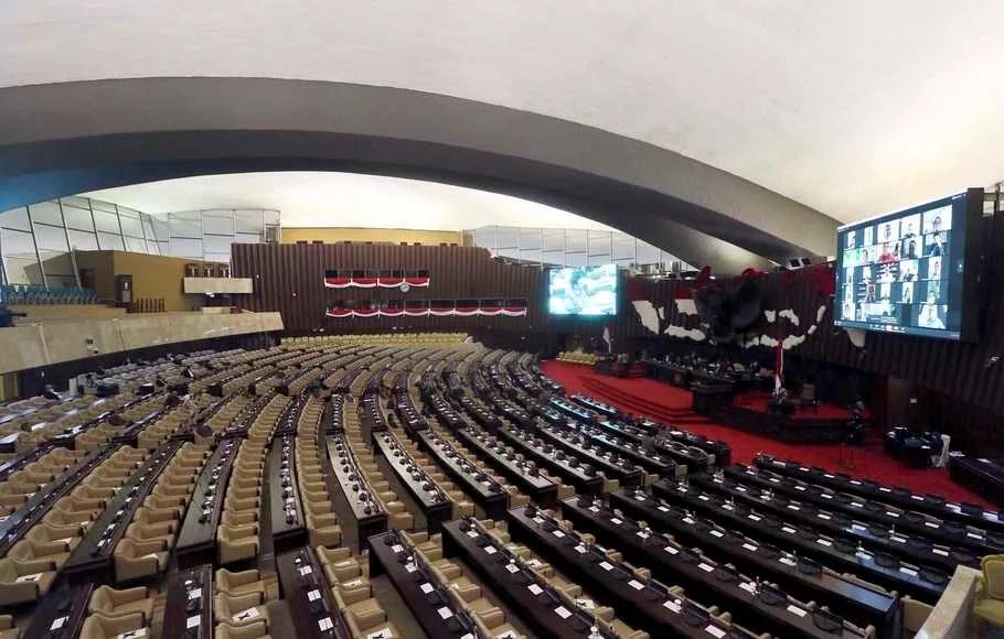 DPR RI Gelar Rapat Paripurna Pembukaan Masa Sidang Ketiga Tahun 2020 Secara Virtual