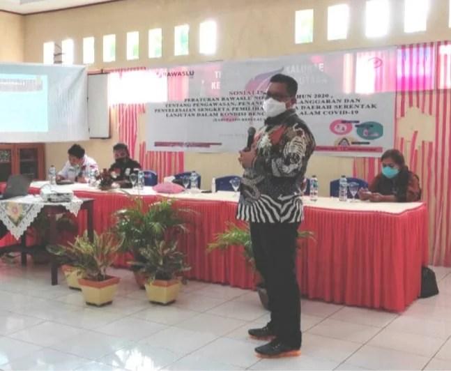 Sosialisasi di Sangihe, Pangellu: Kerja Pengawasan Tidak Boleh Langgar Protap Kesehatan