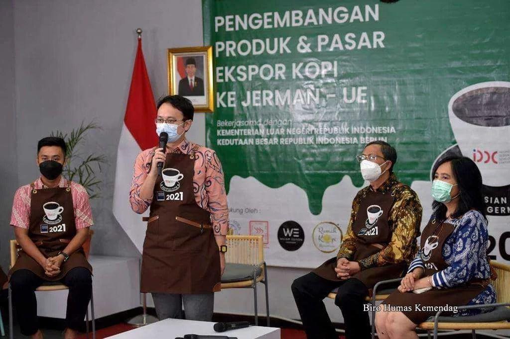 Wamendag RI, Jerry Sambuaga 'Jual Kopi' Indonesia ke Jerman