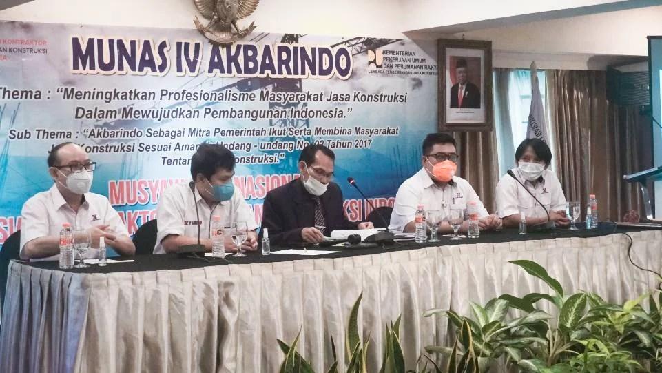 Munas IV Akbarindo Canangkan Profesionalisme Masyarakat Jaskon Untuk Pembangunan Indonesia