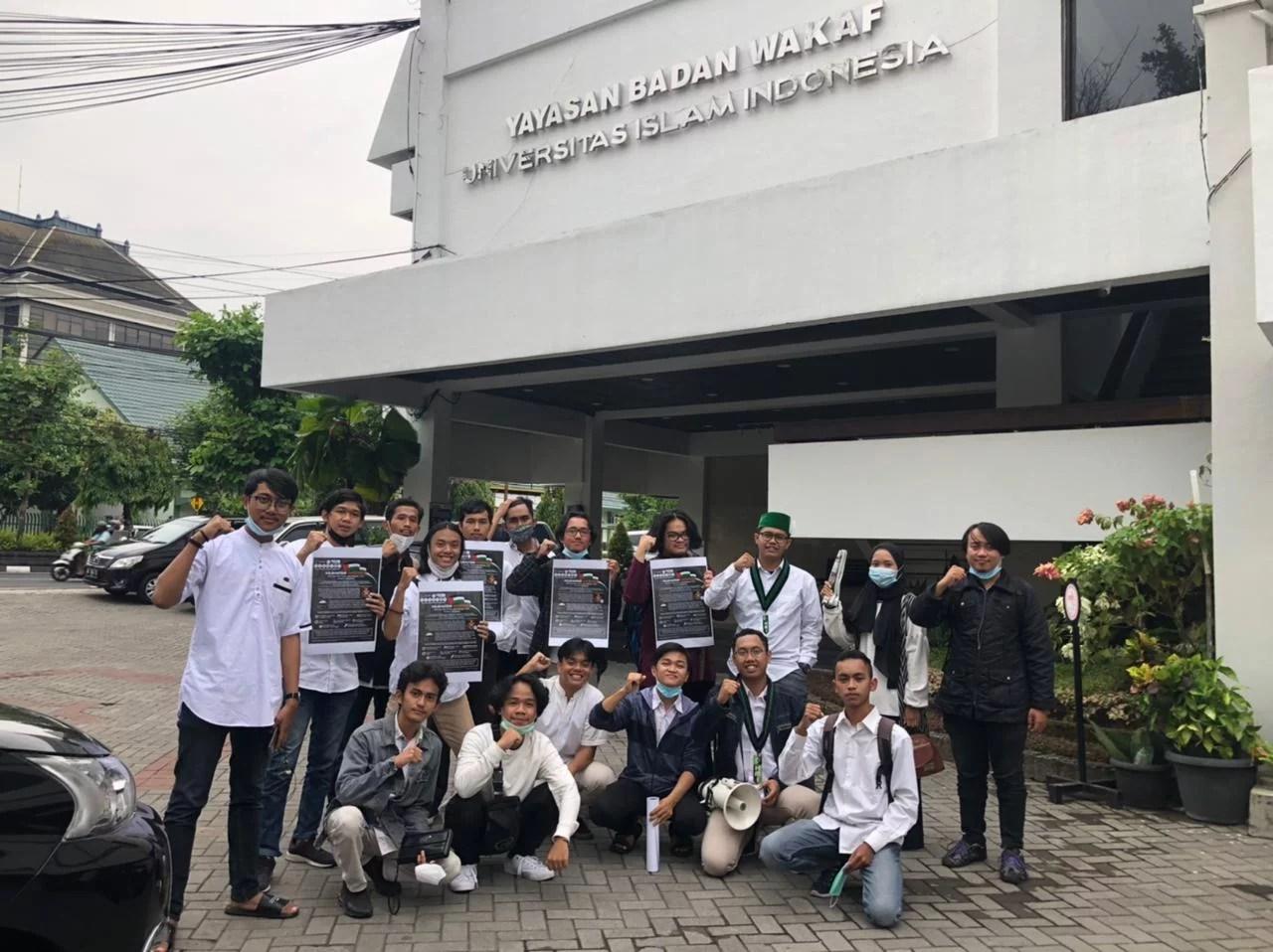 Liga Mahasiswa Muslim Yogyakarta Gelar Aksi Kecam Diskriminasi Apartheid Israel