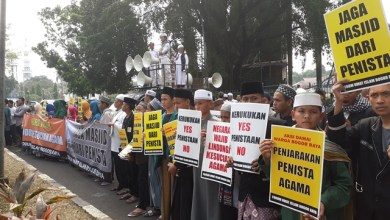 Photo of Umat Islam Bogor Gelar Aksi Tuntut Kejelasan Hukum Kasus Wanita Bawa Anjing ke Masjid