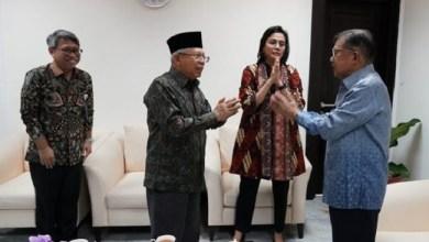 Photo of Tak Berjabat Tangan, Wapres Praktikkan Salam Corona