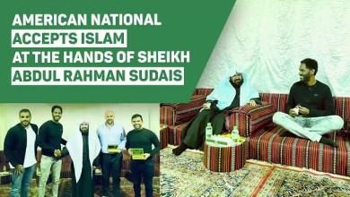Photo of Syekh Sudais Bimbing Syahadat Seorang Warga AS