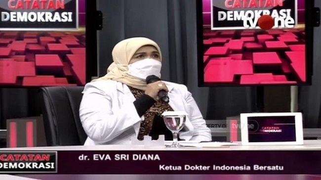 Ketua Umum Dokter Indonesia Bersatu dr. Eva Sri Diana.