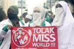 Aksi Forum Umat Islam Tolak Pergelaran Miss World 2013