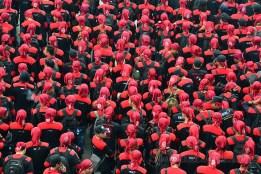 Garda Metal menjadi pengamanan setiap aksi unjukrasa yang dilakukan kaum buruh. (Foto: Fajrul Islam)
