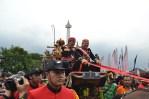 Gubernur DKI Jakarta, Joko Widodo dan Wagub Basuki Tjahaja Purnama dalam acara Festival Kerajaan Nusantara di Silang Monas, Jakarta. (Foto: Fajrul Islam/SJ)