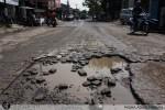 Jalan Rusak di Poris Indah, Kota Tangerang