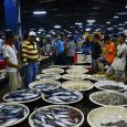 Suasana di pasar lelang ikan Muara Angke, Jakarta (11/5). (Foto: Fajrul Islam)