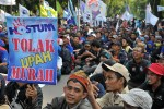 Gabungan Serikat Buruh Demo Tolak Kenaikan Harga BBM
