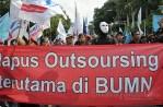 Gabungan Serikat Buruh Demo Tolak Kenaikan Harga BBM. (Foto: Fajrul Islam/SuaraJakarta)