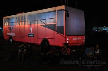 Transjakarta ikut memeriahkan Jakarta Lantern Festival 2014 di Lapangan Banten, Jakarta Pusat. (Foto: Fajrul Islam/SuaraJakarta)