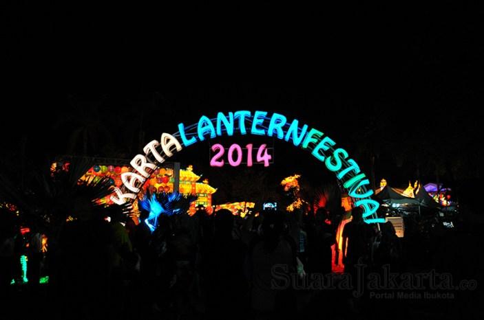 Jakarta Lantern Festival 2014 di Lapangan Banten, Jakarta Pusat. (Foto: Fajrul Islam/SuaraJakarta)