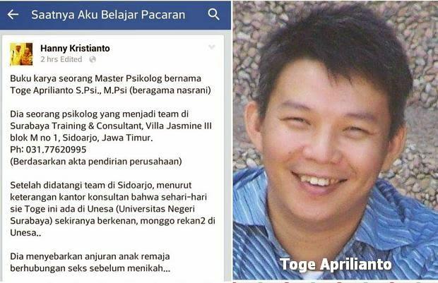 "Buku ""Saatnya Aku Belajar Pacaran"" Ngajak ML Karya Toge Aprilianto"